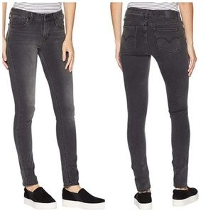 Levi's 711 Faded Black Skinny Jeans